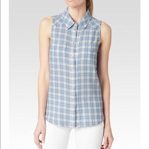 Paige Adora Cornflower plaid Shirt